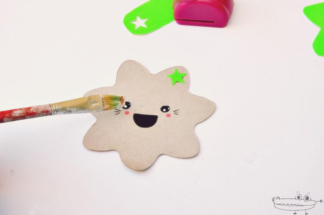 Estrella Kawaii para marcapáginas