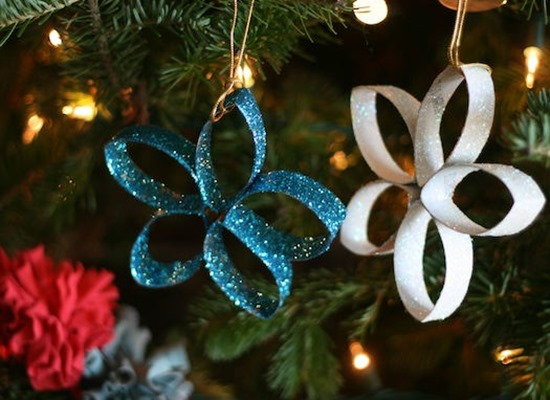 Toilet Paper Roll Christmas Ornament Craft