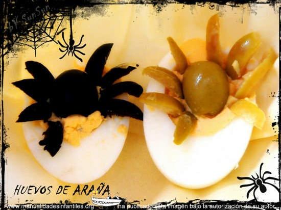 huevos de araña recetas para halloween