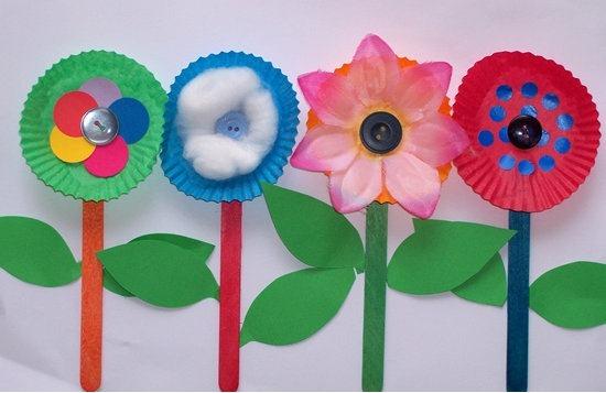 flores con moldes para madgalenas