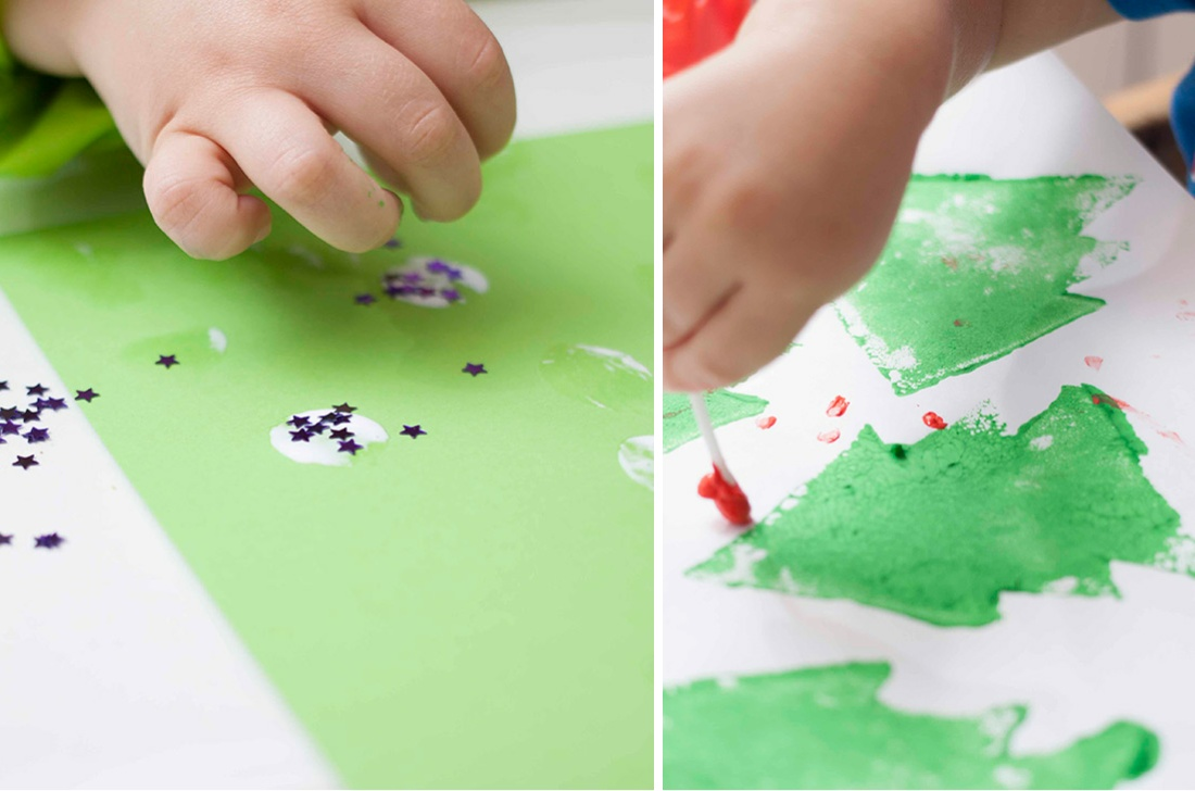 Actividades pintar preescolar en Navidad
