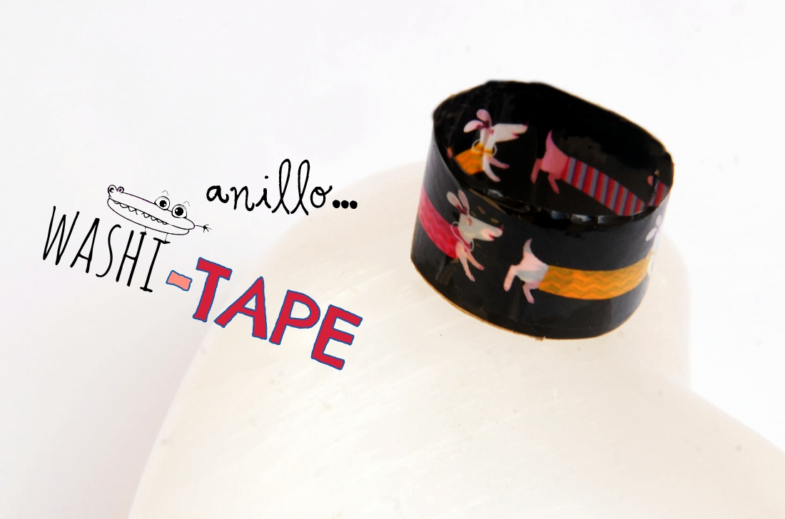 Anillo de washi tape