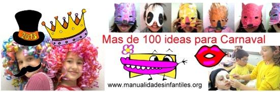 manualidades infantiles ideas para Carnaval