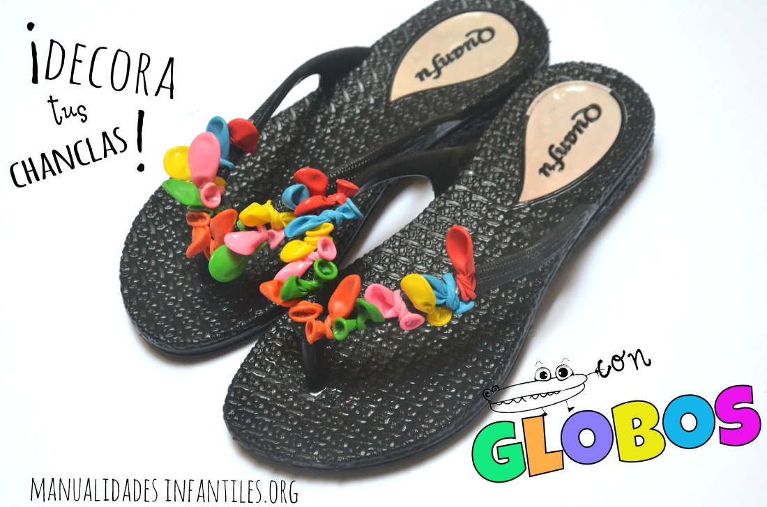 Chanclas decoradas con globos