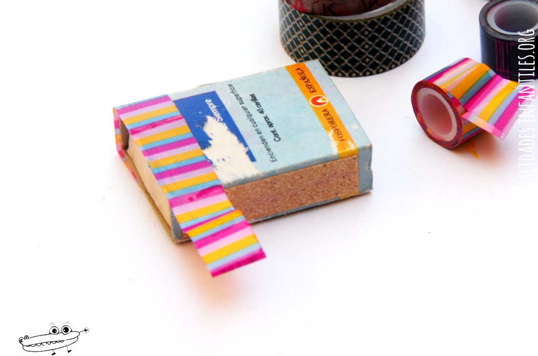 Como decorar cajas con washi tape