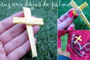 Como hacer una cruz con hoja de palma