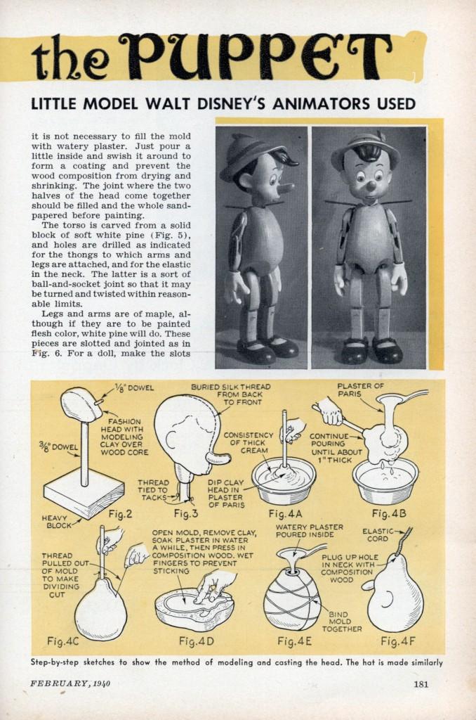 Como hacer una marioneta de pinocho