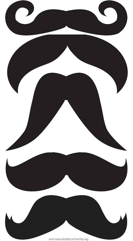 plantillas de bigotes y mostachos para disfraz de caballero