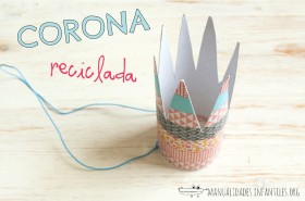 Corona reciclada con washi tape