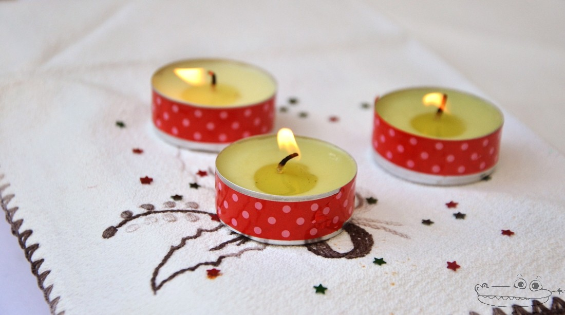 Decorar velas con Washi tape