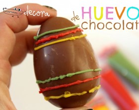 Decorar huevos de chocolate