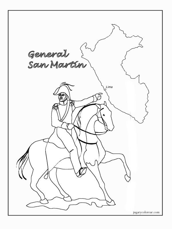 Bandera De Peru Coloring Pages