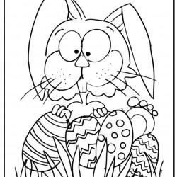 Dibujo de conejo Pascua escondido