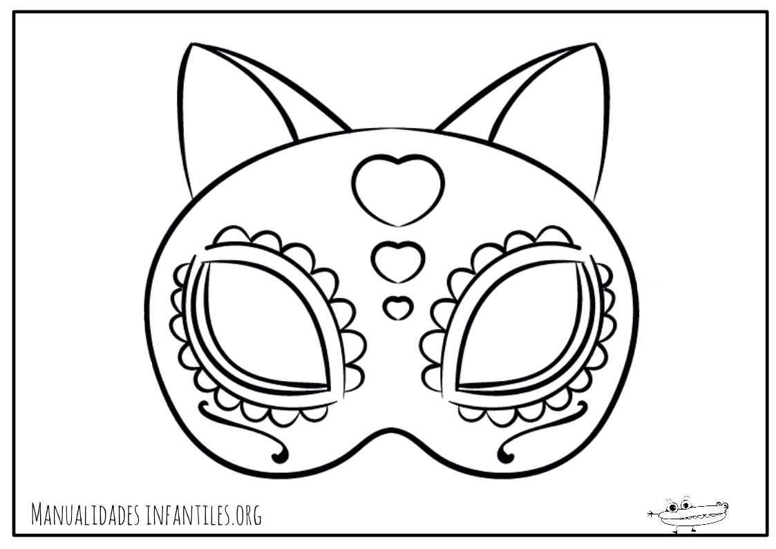 Mascaras de Carnaval para Imprimir - Manualidades Infantiles