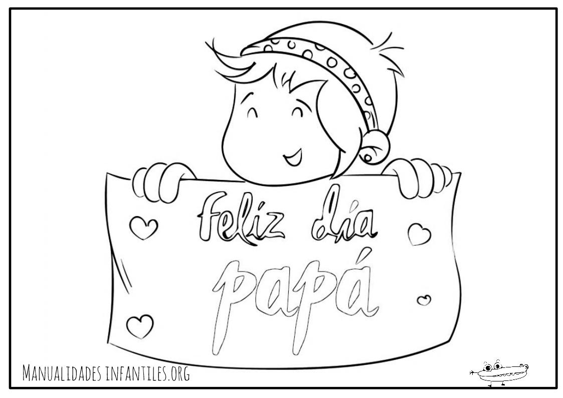 Dibujos para el Día del Padre - Manualidades Infantiles