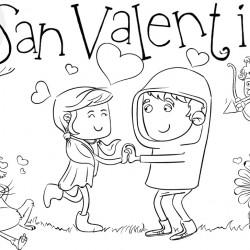 Dibujos de San Valentin para colorear