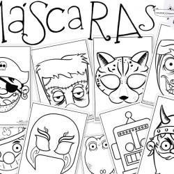 Dibujos de mascaras para colorear