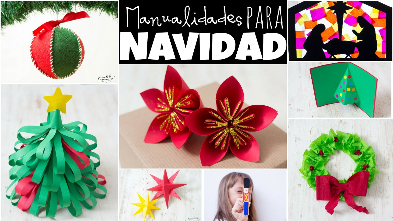 Ideas faciles para navidad manualidades for Decoracion navidena para ninos