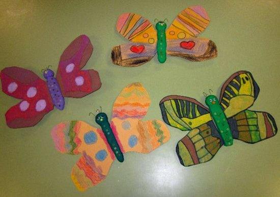 Mariposas   manualidades infantiles