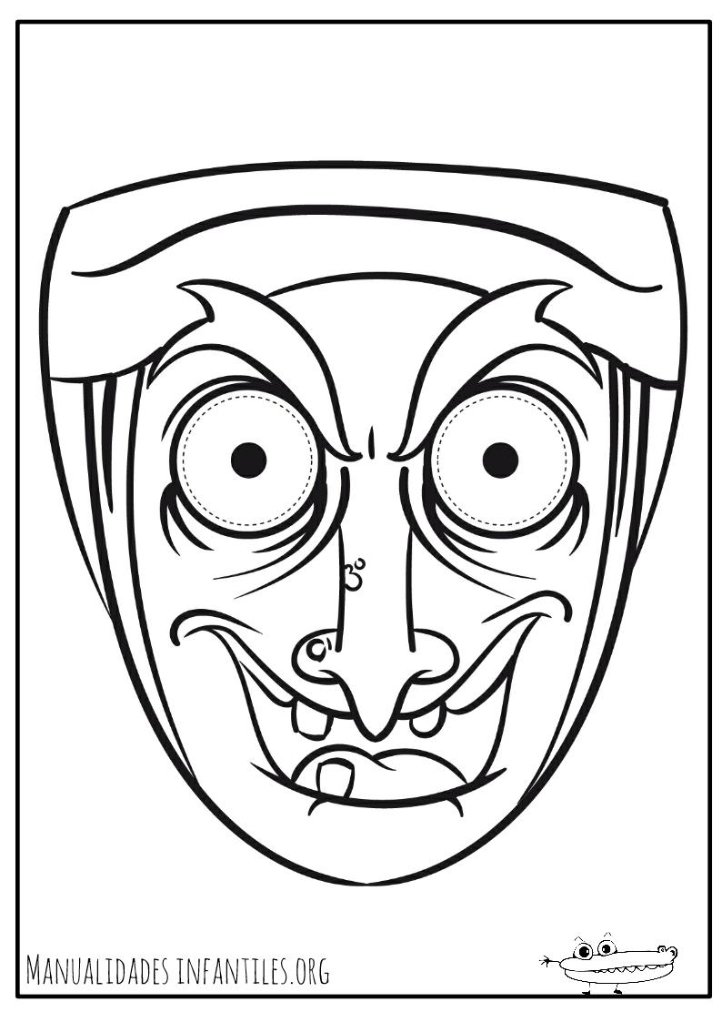 Dibujos de máscaras para colorear - Manualidades Infantiles