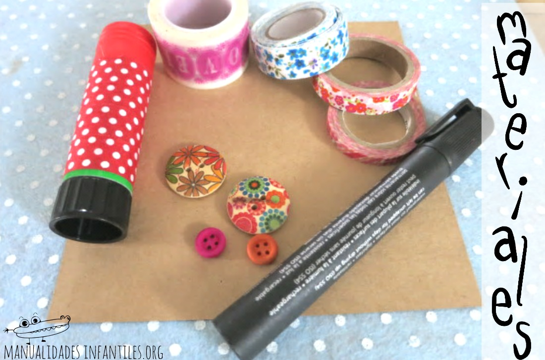 Materiales postal washi tape