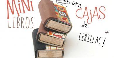 Mini libros con cajas de cerillas