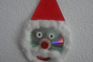 Papá Noel con cd reciclado