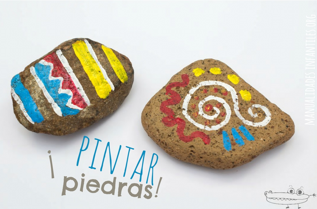 Pintar piedras manualidades infantiles for Pintura color piedra paris