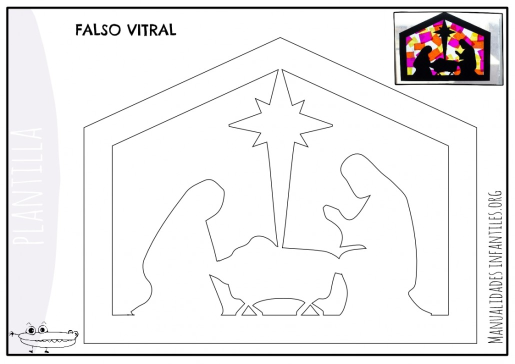 Plantilla falso vitral