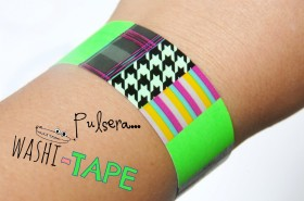 Pulsera washi tape reciclada