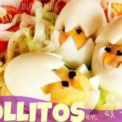 Receta de Pascua para niños con huevos duros