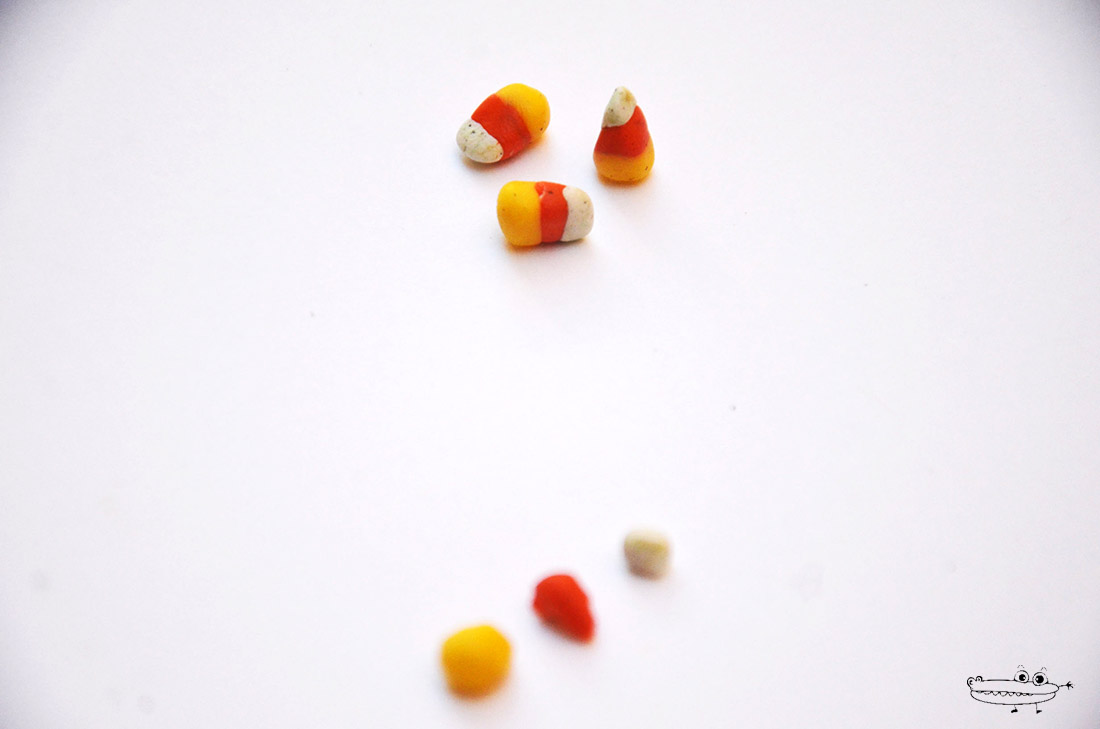 Tutorial candy corn en fimo