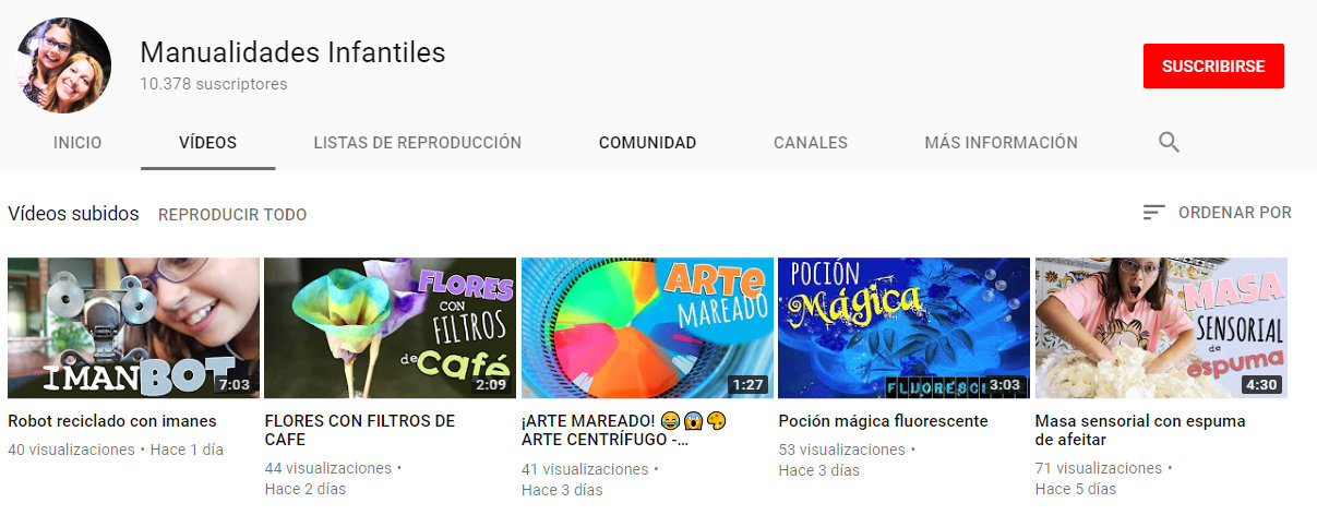 VIDEOS CANAL DE MANUALIDADES