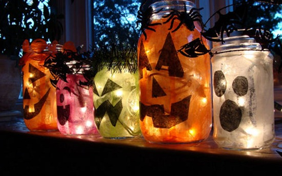 Calabazas con luces led