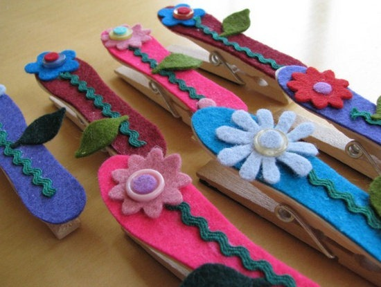 Mother's Day Clothespin Magnet Craft
