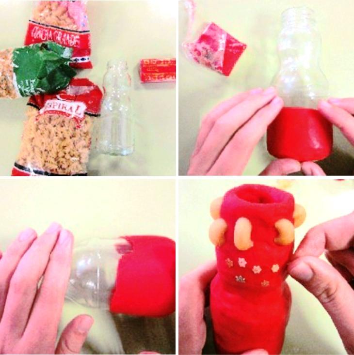 Jarrones decorados con legumbres y pasta manualidades - Como decorar jarrones ...