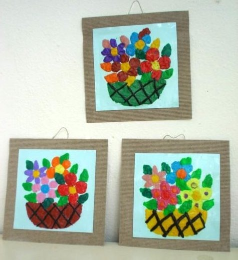 Cuadro con Plastilina para el Día de la Madre - Manualidades Infantiles