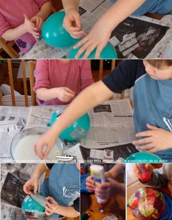 adornos navideños con papel mache