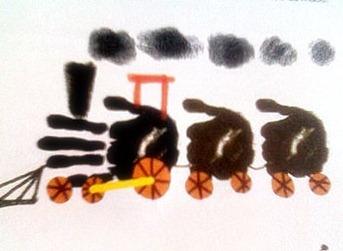 dactilopintura tren