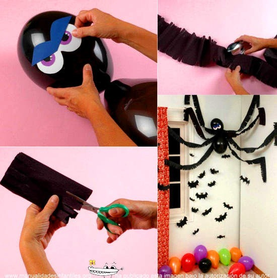 decoracion halloween con globos
