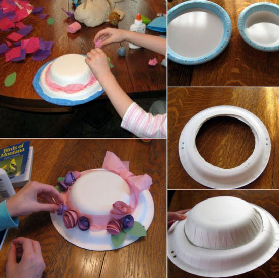 easter bonnet ideas con platos