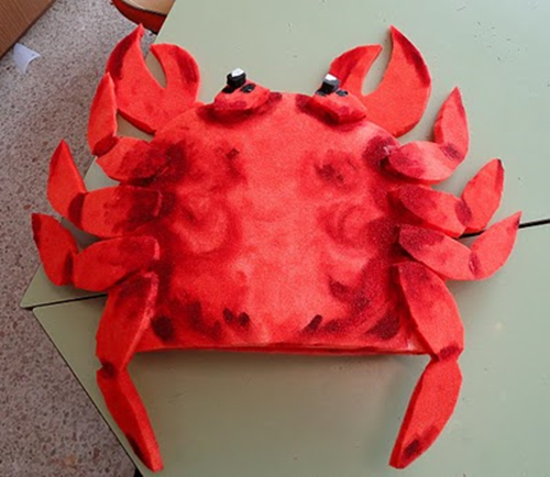 disfraz cangrejo espuma