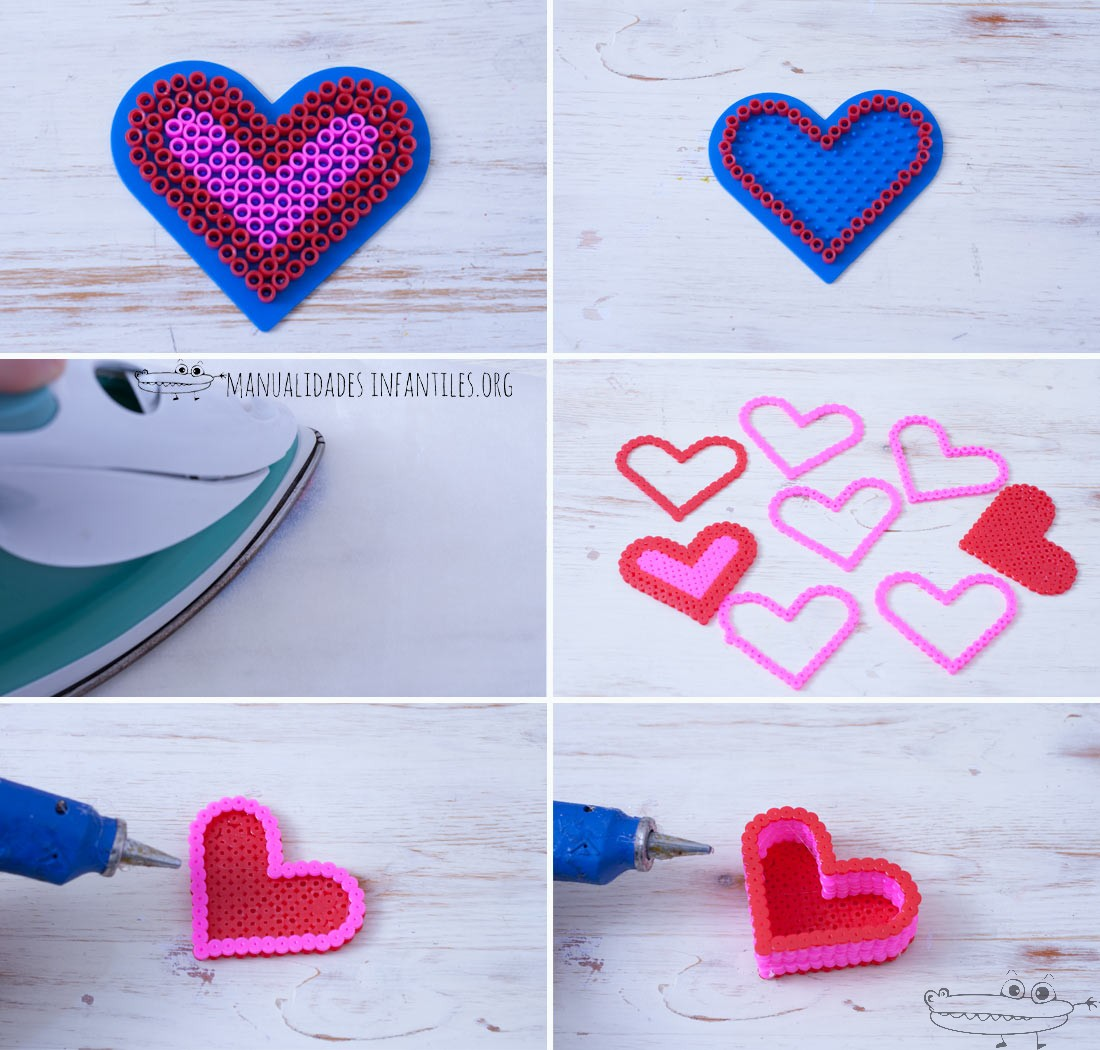 joyero hama beads corazon