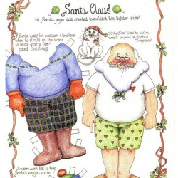 recortables de santa claus