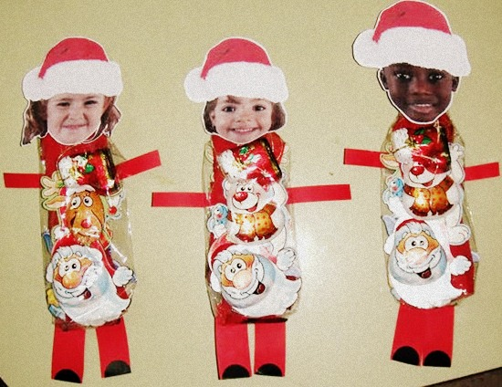 Pap noel con bombones regalos navide os manualidades - Trabajos manuales para navidad economicos ...