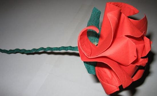 rosa sant jordi origami