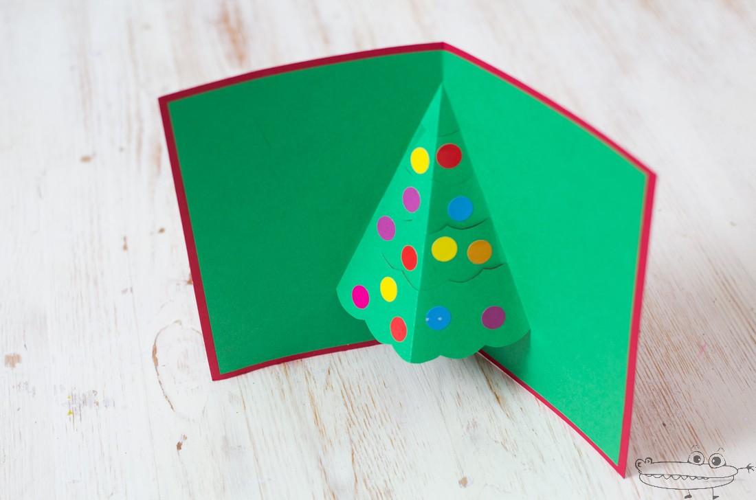 tarjeta de navidad pop up - Como Hacer Una Postal De Navidad