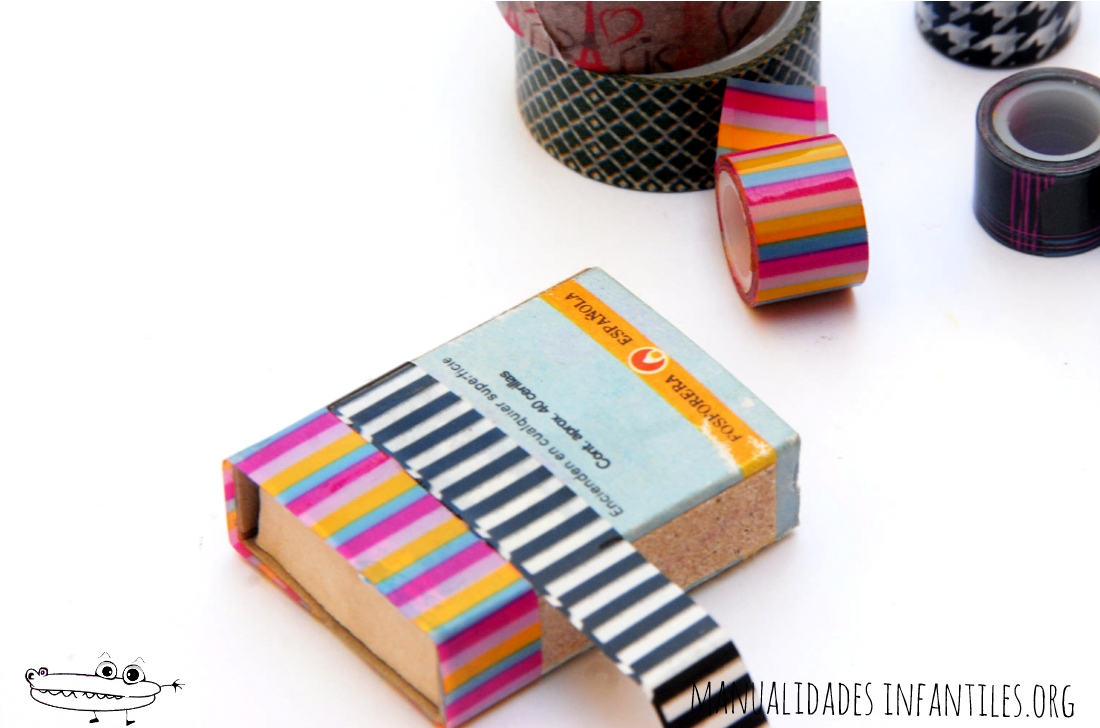 tutorial decorar cajas washi tape